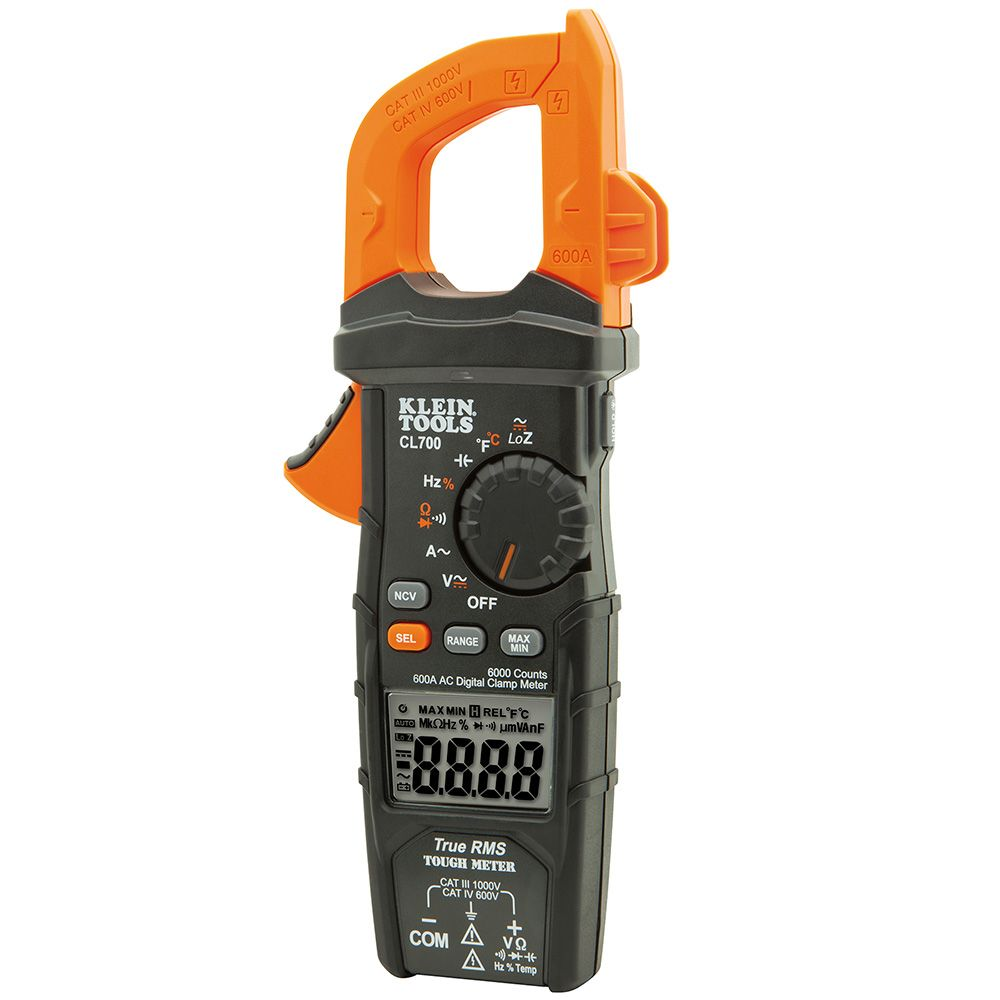 Digital Clamp Meter AC Auto-Ranging LoZ - CL700   Klein Tools - For ...