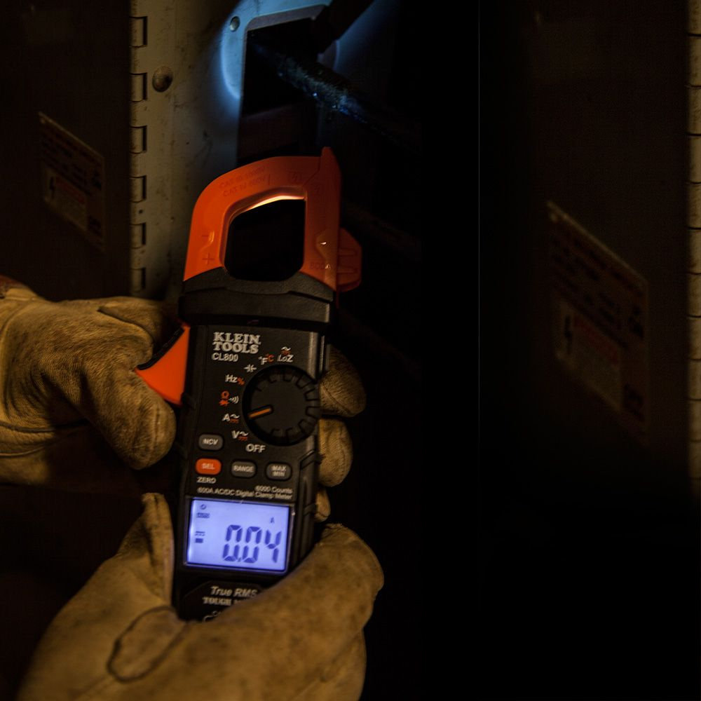 Digital Clamp Meter Ac Dc Auto Ranging Cl800 Klein Tools For Acdc You Can Use The Main Window Of Circuit Construction Kit Alternate Image