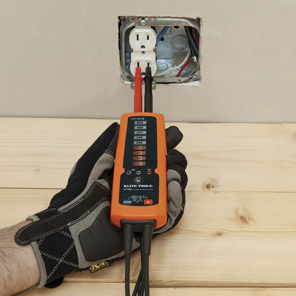 Electronic Voltage Continuity Tester Et200 Klein Tools For Testing Equipment Testers Circuit Breaker Alternate Image