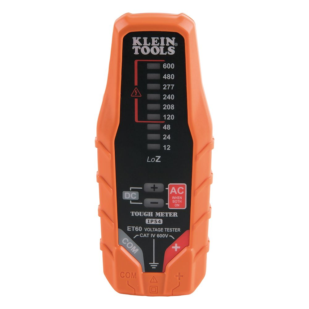 Electronic Ac Dc Voltage Tester Et60 Klein Tools For Noncontact 600v Detector Electrical Circuit Wire Alternate Image