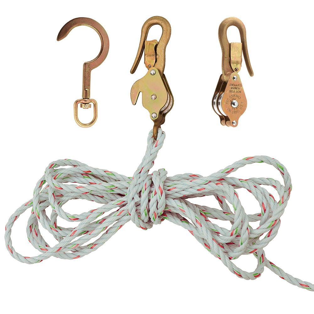 Klein H1802-30SSR Block & Tackle w/Guarded Snap/Hooks