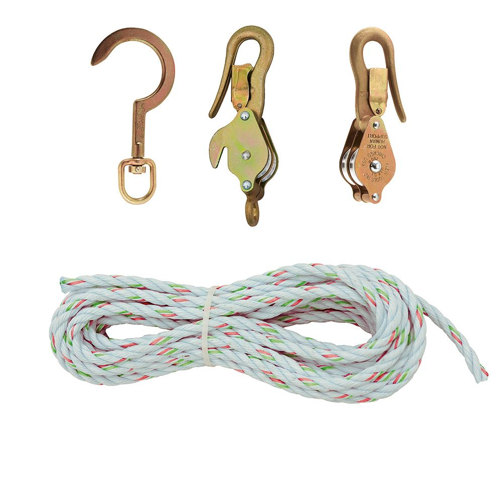 Klein H1802-30S 25ft Block & Tackle w/ Hook 258