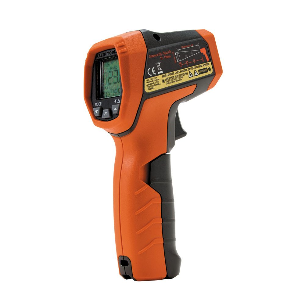 dual laser infrared thermometer ir5 klein tools for professionals since 1857. Black Bedroom Furniture Sets. Home Design Ideas