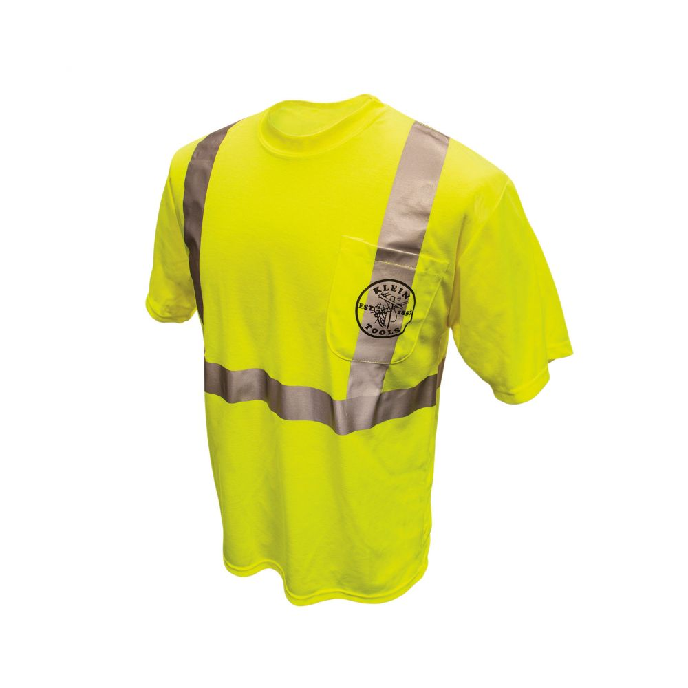 Reflective HiViz Green T-Shirt, Large