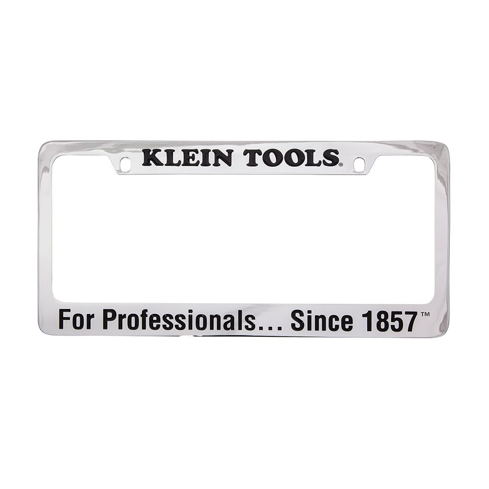 Chrome-Brass License Plate Frame