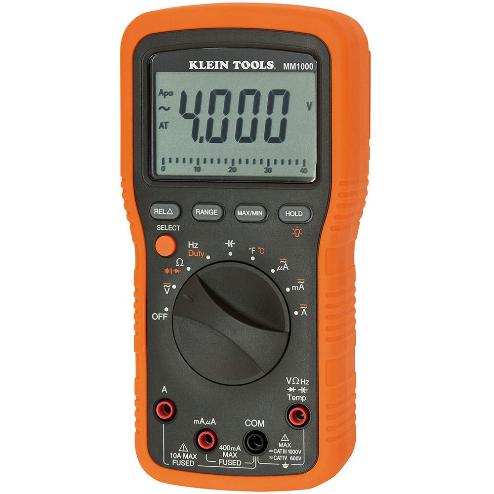 Electricians Multimeter Mm1000 Klein Tools For Professionals Digital Voltmeter Wiring Diagram