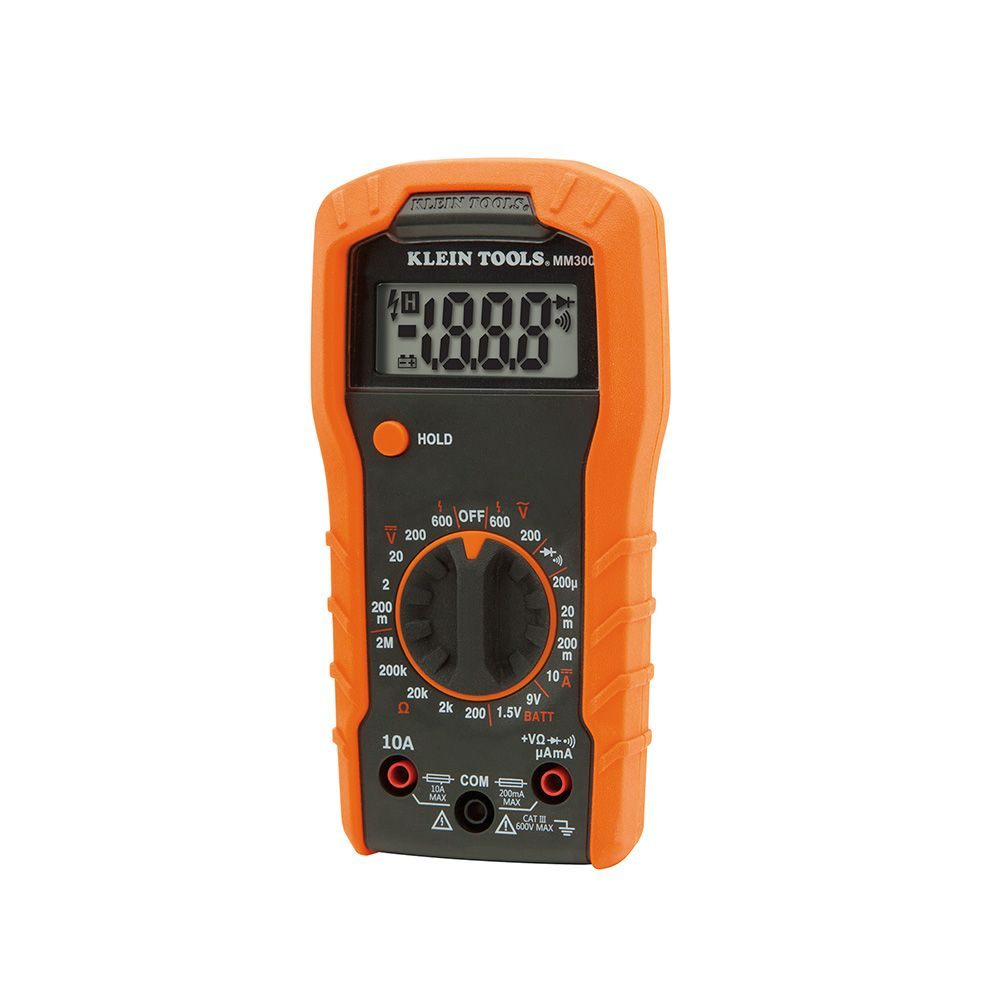 Digital Multimeter, Manual-Ranging, 600V