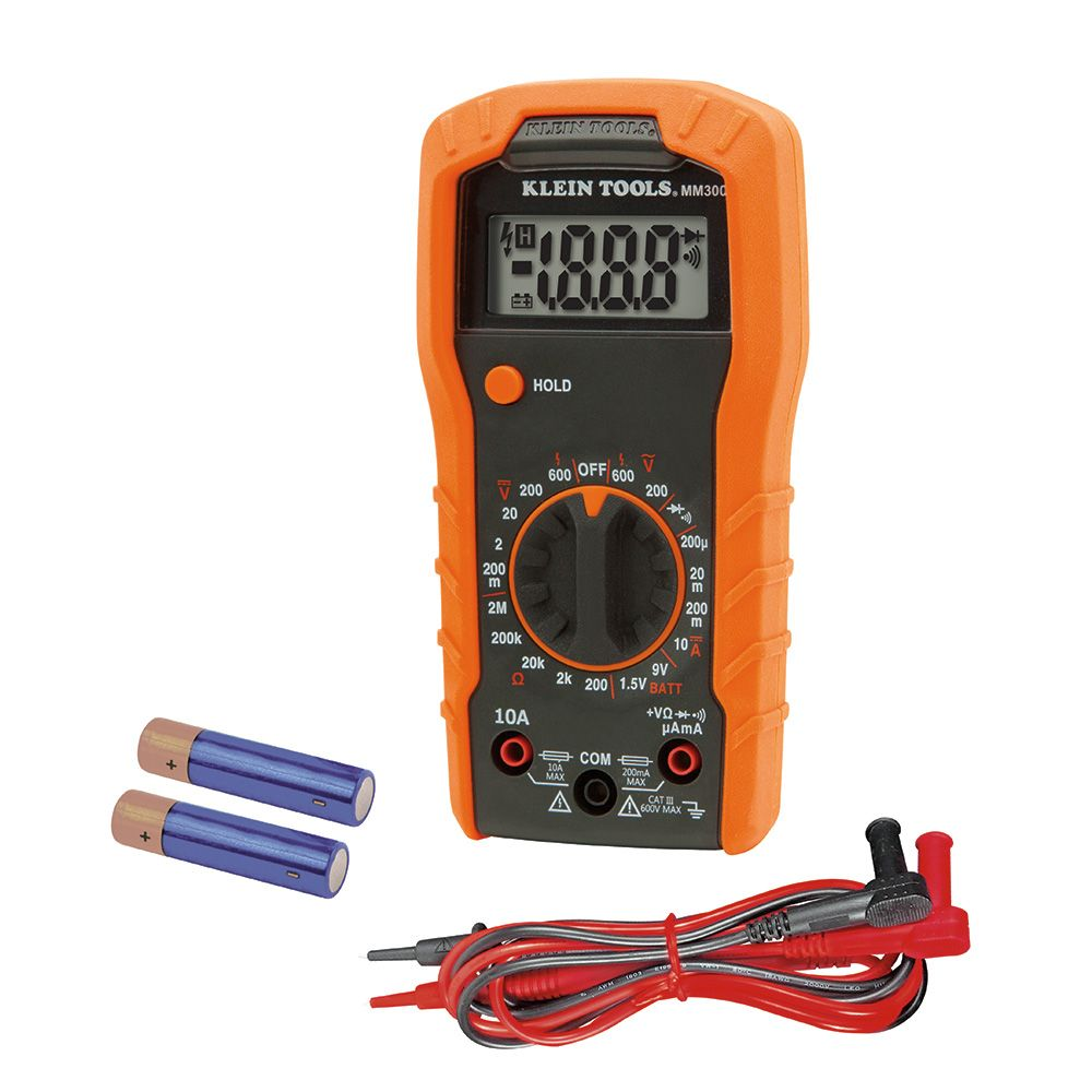 Digital Multimeter Manual Ranging 600v Mm300 Klein Tools For Voltmeter Ammeter Wiring Diagram Alternate Image