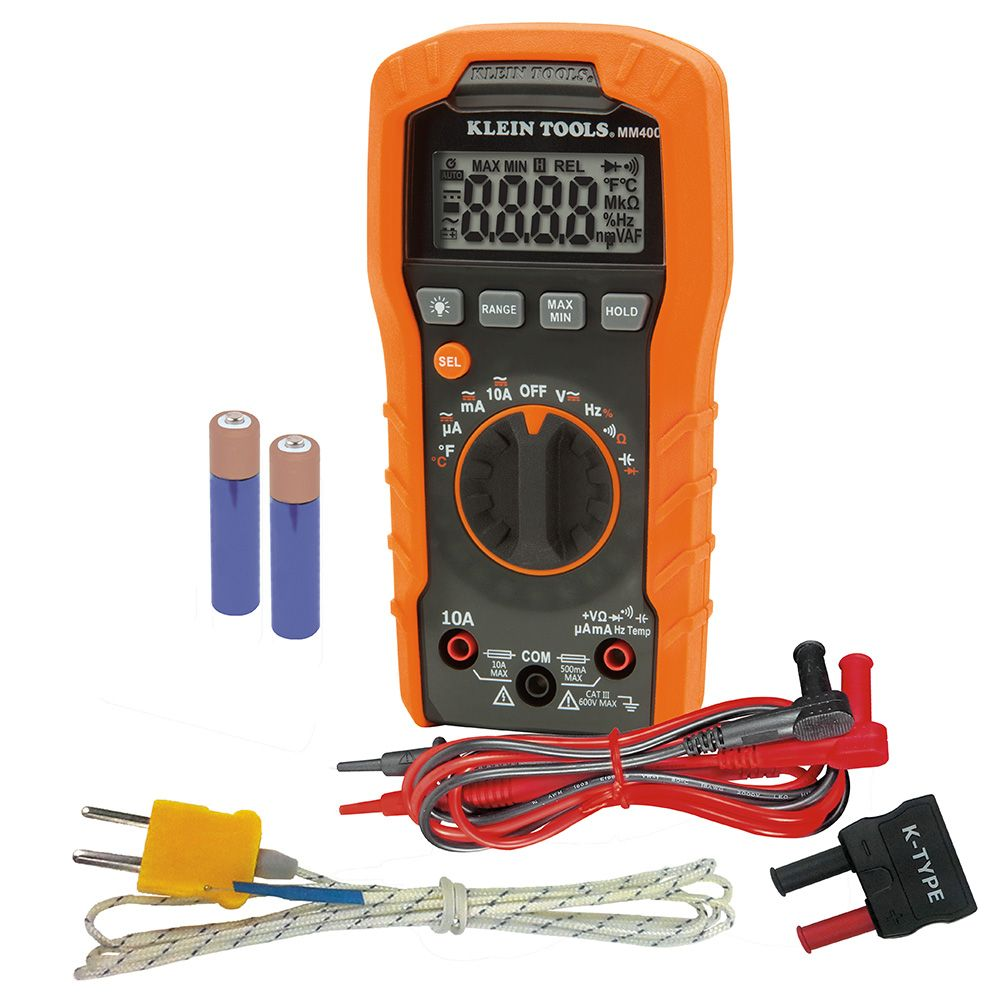 Pleasing Digital Multimeter Auto Ranging 600V Mm400 Klein Tools For Wiring Cloud Brecesaoduqqnet