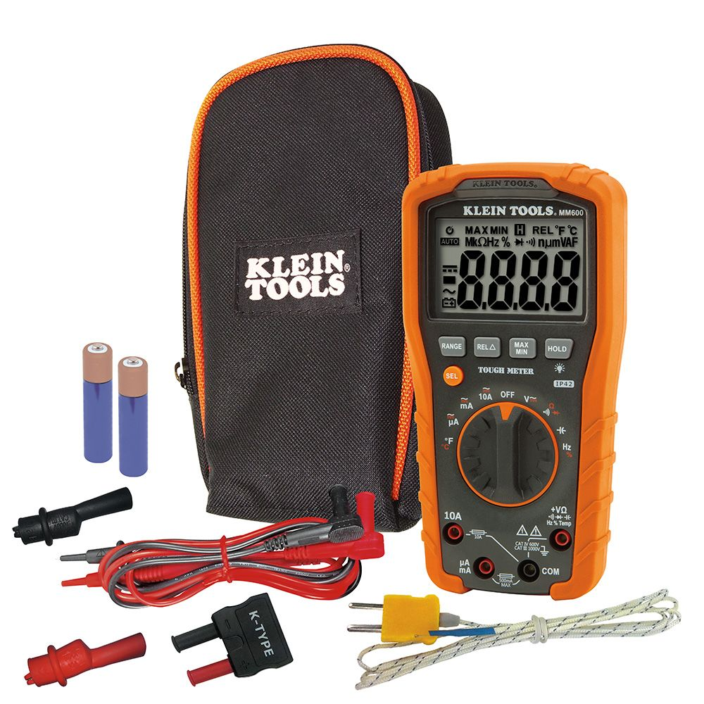 digital multimeter auto ranging 1000v mm600 klein tools for professionals since 1857. Black Bedroom Furniture Sets. Home Design Ideas