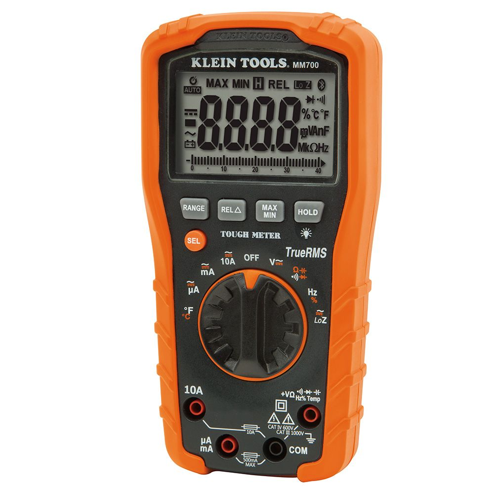 Digital Multimeter Trms Low Impedance 1000v Mm700 Klein Tools Image Battery Indicator Circuit Download