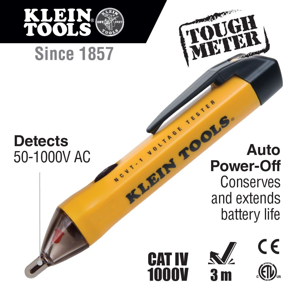 Non Contact Voltage Tester Ncvt 1 Klein Tools For Digital Screwdriver Buy Testercircuit