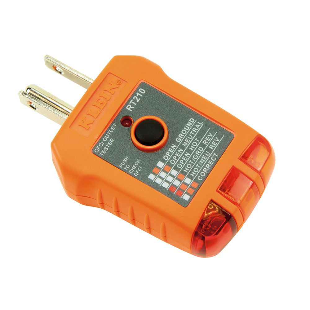 Gfci Receptacle Tester Rt210 Klein Tools For Professionals How To Test A Circuit Breaker Alternate Image
