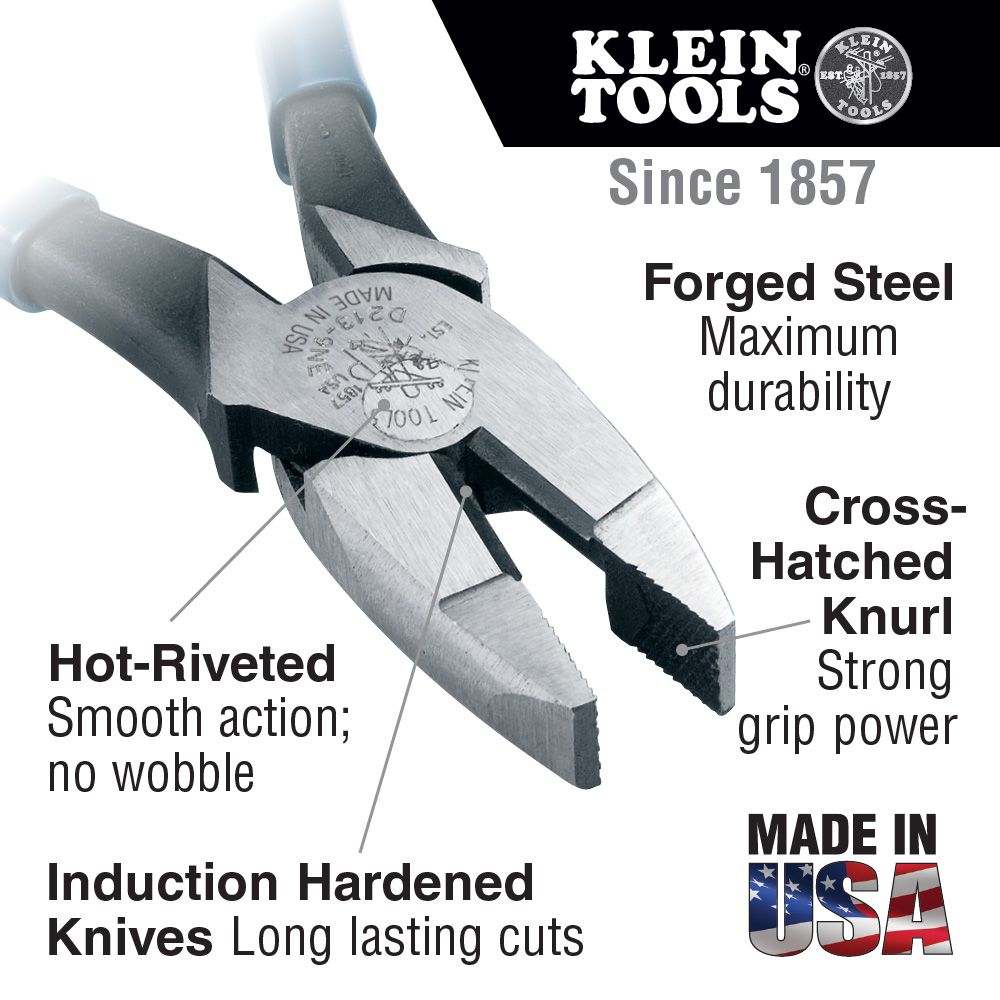 9\'\' High Leverage Side-Cutters New England - D213-9NE | Klein Tools ...