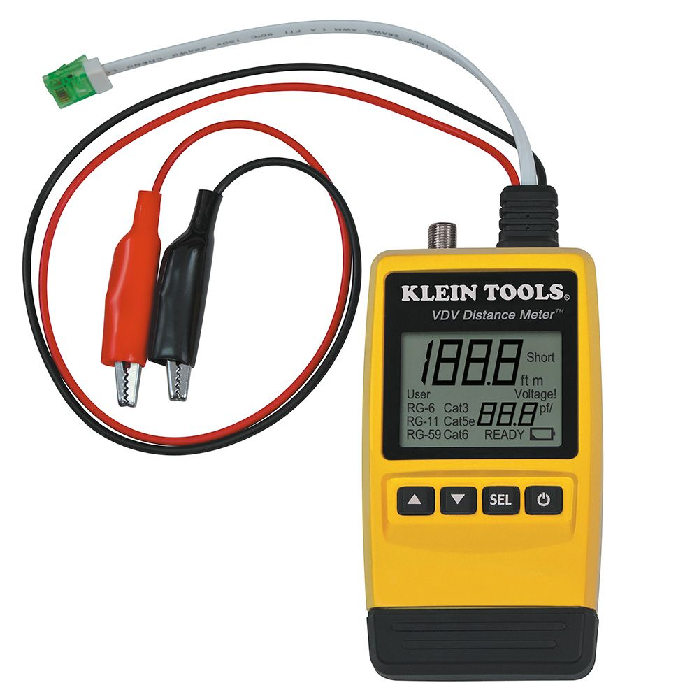 Wire Measuring Device : Vdv distance meter klein tools for