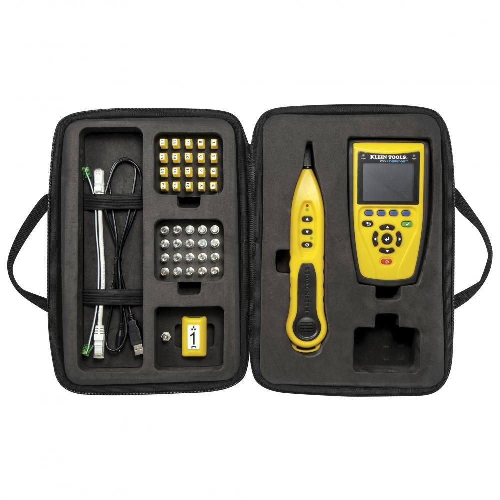 Klein tools vdv501 829 vdv commander test tone kit ebay for Canape network testing tool