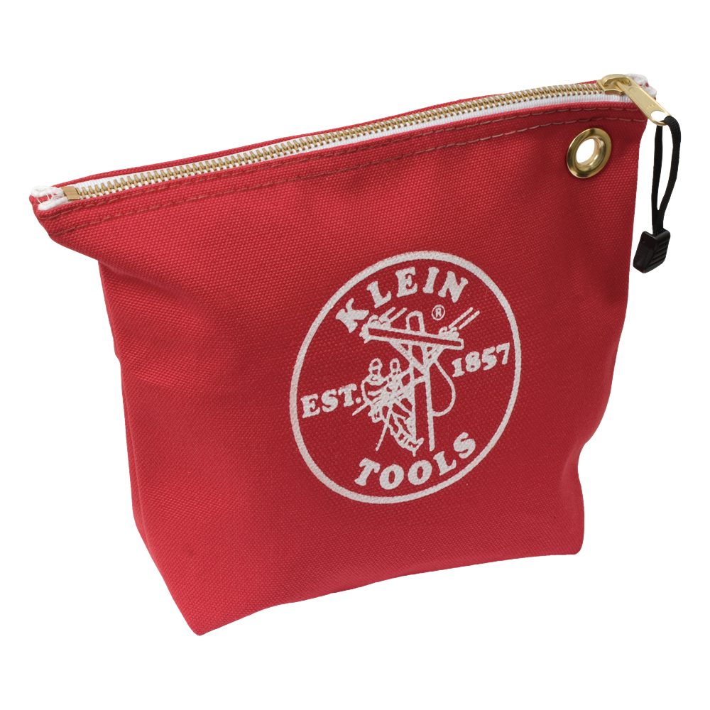 Canvas Zipper Bag- Consumables, Red - 5539RED | Klein Tools - For ...