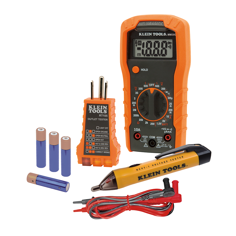 electrical test kit 69149 klein tools for professionals since 1857. Black Bedroom Furniture Sets. Home Design Ideas