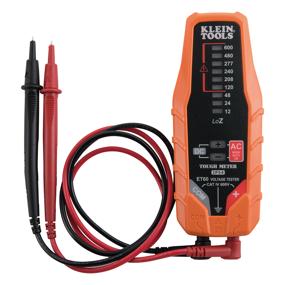 New Electrical Tester : Electronic ac dc voltage tester et klein tools for