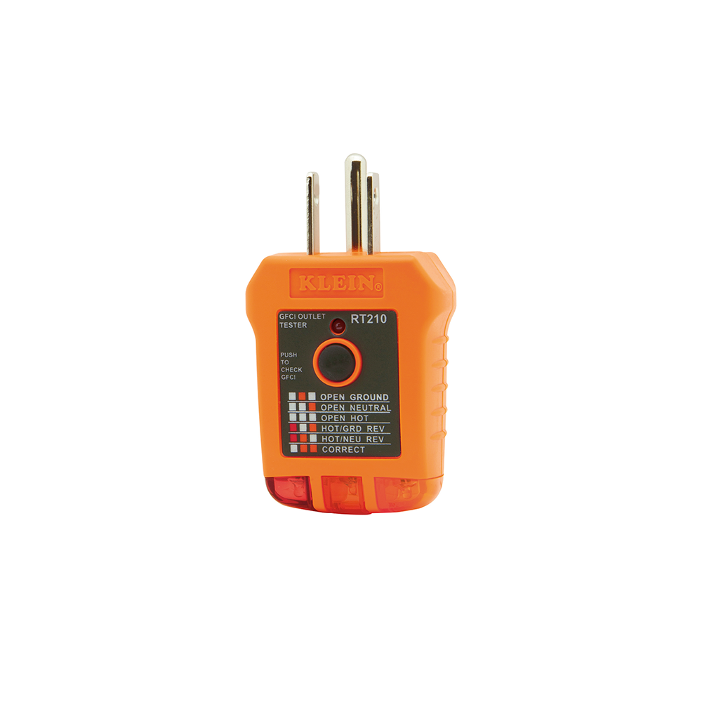 Electrical Receptacle Tester : Gfci receptacle tester rt klein tools for