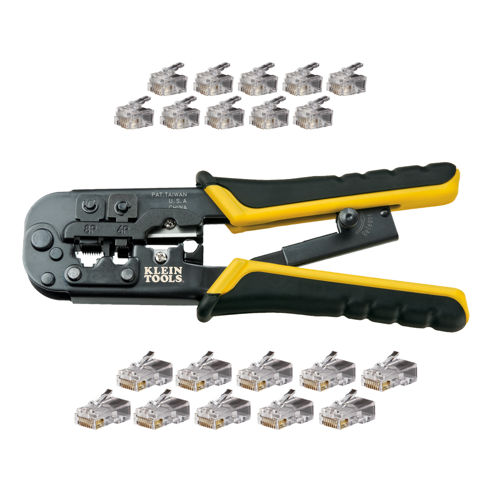 Modular Installation Kit Vdv226 817 Klein Tools For Telephone Rj11 Cat 5 Wiring Diagram Get Free Image About Images