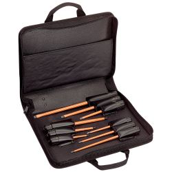 33528 1000V Insulated Screwdriver Set, Slotted and Phillips, 9-Piece