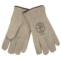 40014 Suede Cowhide Drivers Gloves Lined, L