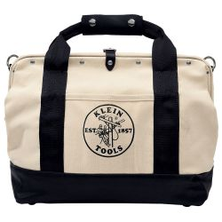 5003-18 18'' Canvas Tool Bag with Leather Bottom