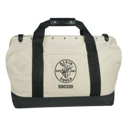 5003-20 Canvas Tool Bag with Leather Bottom, 20-Inch