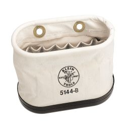 5144B Canvas Bucket, 15 Interior Pocket Aerial Oval Bucket