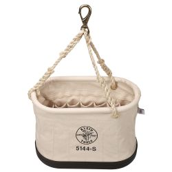 5144S Canvas Bucket, 15-Pocket Oval Bucket with Swivel Snap