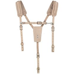 5413 Soft Leather Work Belt Suspenders