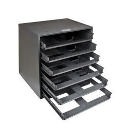 54476 Slide Rack, 6-Box, 16-3/8-Inch Height