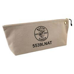 5539LNAT Canvas Bag with Zipper, Large Natural