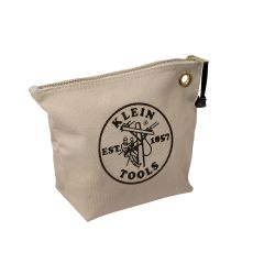 5539NAT Canvas Zipper Bag- Consumables, Natural