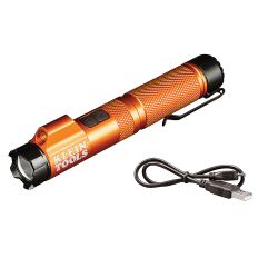 56040 Rechargeable Focus Flashlight with Laser