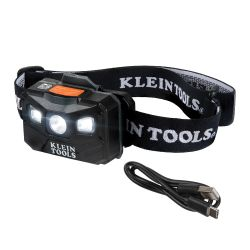 56048 Rechargeable Headlamp with Strap, 400 Lumen All-Day Runtime, Auto-Off
