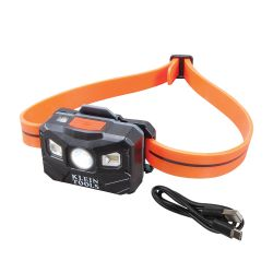 Rechargeable Headlamp w/Silicone Strap, 400 lm, All-Day Run, Auto-Off