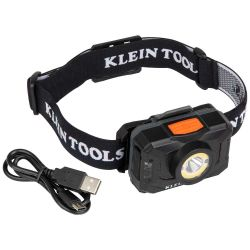 Rechargeable 2-Color LED Headlamp with Adjustable Strap
