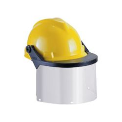 59988 Visor for Hard Hats and Caps, Clear Flat