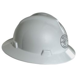 60031 V-Gard® White Hard Hat with Lineman Logo