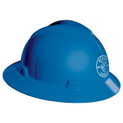 60033 V-Gard® Hard Hat, Blue, with Klein Lineman Logo