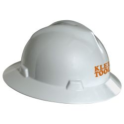 60034 V-Gard® Hard Hat, White, with Klein Tools Logo