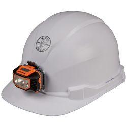 60107 Hard Hat, Non-vented, Cap Style with Headlamp