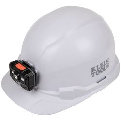 Hard Hat, Non-vented, Cap Style with Rechargeable Headlamp
