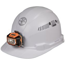 60113 Hard Hat, Vented, Cap Style with Headlamp