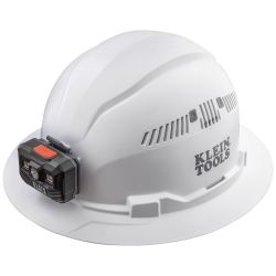 60407RL Hard Hat, Vented, Full Brim with Rechargeable Headlamp