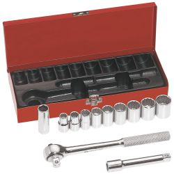 65510 1/2-Inch Drive Socket Wrench Set, 12-Piece