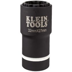 66054E 2-in-1 Metric Impact Socket, 12-Point, 32 x 27 mm