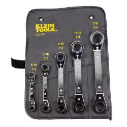 68245 Reversible Ratchet Box Wrench Set 5 Pc